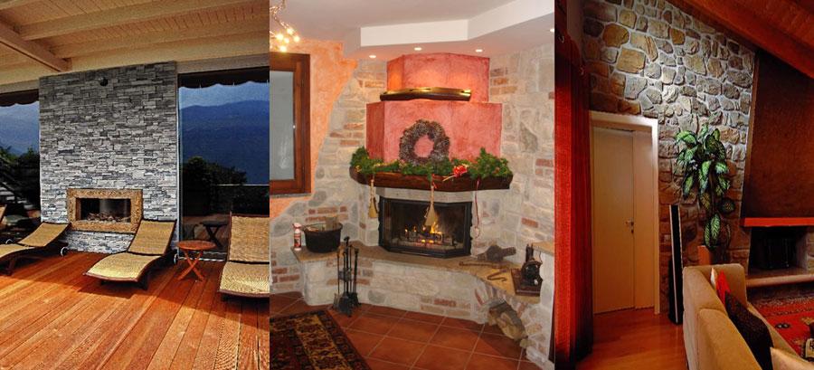 Rivestimenti in pietra per pareti monza brianza - Rivestimento cucina finta pietra ...